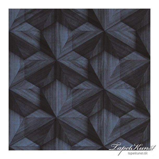 Loft - Graphic 3D - Blue Wood