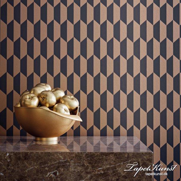 Petite Tiles - Charcoal & Bronze