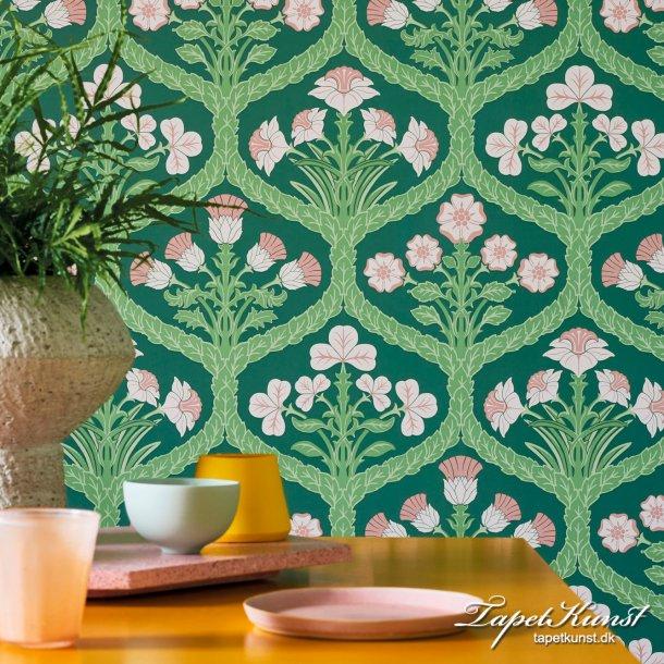 Floral Kingdom - Ballet Slipper & Leaf Green