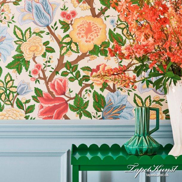 Midsummer Bloom - Chartreuse, Rouge & Leaf Green