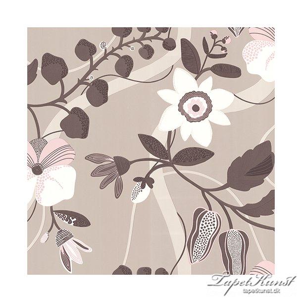 Metermål - Floral - Beige