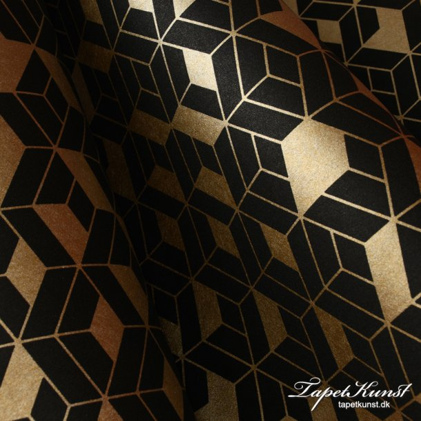 Tinted Tiles - Flake - Black & Gold