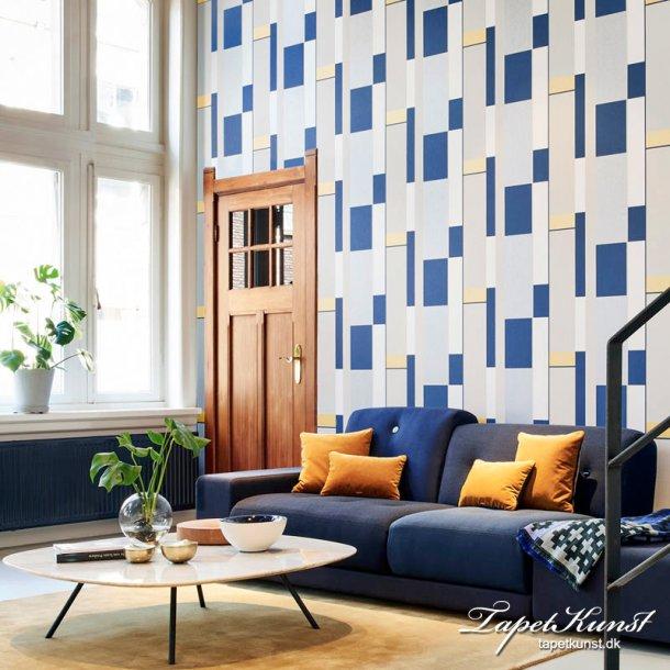 Tinted Tiles - Opulent - Gold & Blue