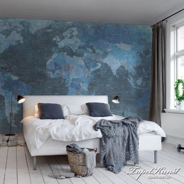 Worldmap Blue