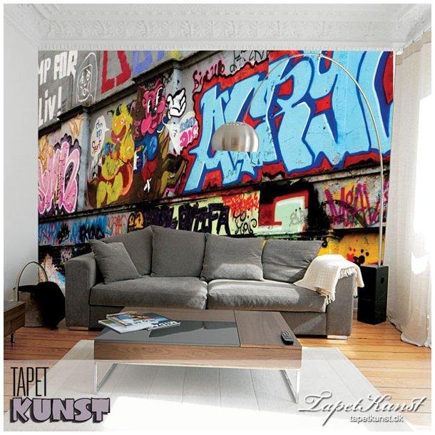 Graffiti - turkis akryl